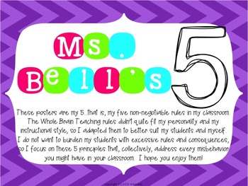 Ms. Bell's 5: Posters for My Classroom Rules