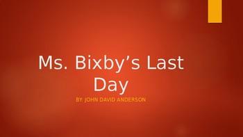 Ms. Bixby's Last Day Novel Study