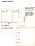 Ms. Brenner's Math End of the Year Test