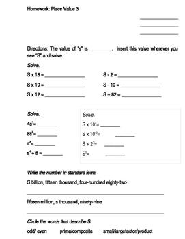 Ms. Brenner's Math Homework