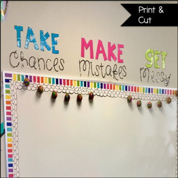 Take Chances Wall Quote
