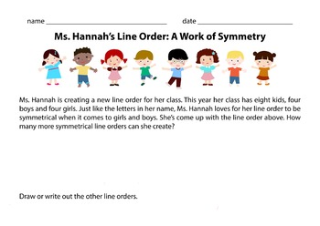 Ms. Hannah's Line Order - A Work of Symmetry