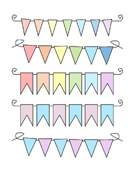 Ms. Katelinn's Banner Pack 1:  Rainbow and Pastel