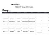 January 2019 ABA Study Calendar