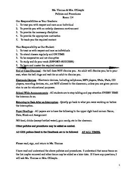 Ms. Lisa's Policies & Procedures