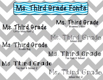 Ms. Third Grade's Fonts