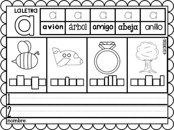 m s del abc alphabet practice pages in spanish by bilingual scrapbook. Black Bedroom Furniture Sets. Home Design Ideas