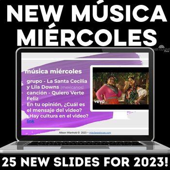 Para Empezar: Música miércoles 3 - more music bell ringers for Spanish class