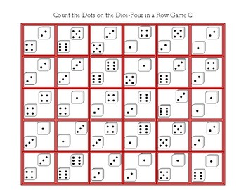 Mstch the Dots on the Dice-Four in a Row Game C
