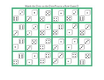 Mstch the Dots on the Dice-Four in a Row Game D