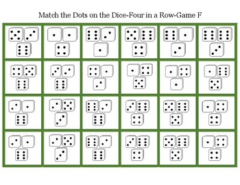 Mstch the Dots on the Dice-Four in a Row Game E