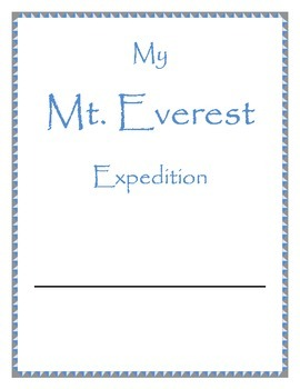 Mt. Everest Expedition Journal - Lessons and Activities