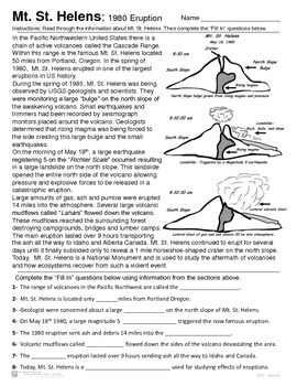 Mount Saint Helens and Cascade Volcanic Range Introduction - Mt St. Helens