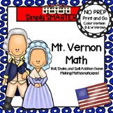 Mt. Vernon Math:  NO PREP Roll, Shake, and Spill Addition Game