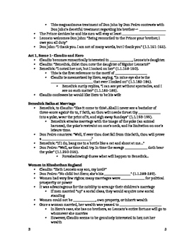 Much Ado About Nothing- Act 1 Guided Notes Handout