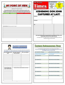 Much Ado About Nothing KS4 Comprehension Activities Booklet!