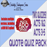 Much Ado About Nothing Quote Quiz Mega-Bundle w/ Different
