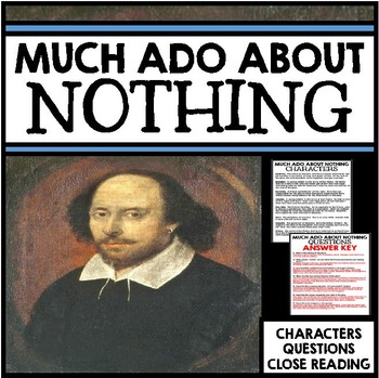 Much Ado About Nothing Unit - Shakespeare Questions and Cl