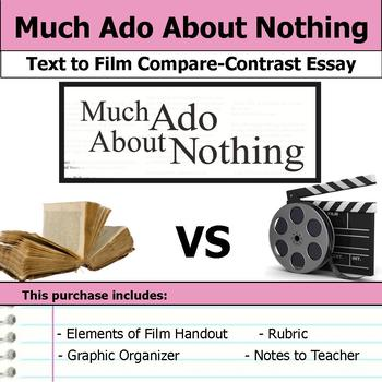 Much Ado About Nothing by William Shakespeare - Text to Film Essay Bundle