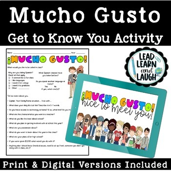 Mucho Gusto - Getting to Know Students