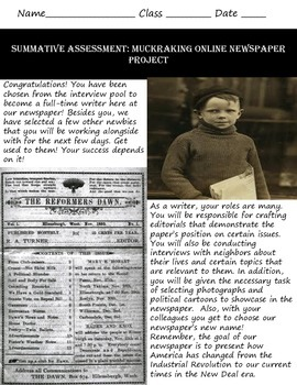 Muckraking Online Newspaper: Common Core & Research Project
