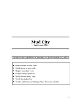 Mud City by Deborah Ellis Novel Study Guide