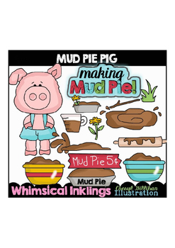 Mud Pie Pig Clipart Collection