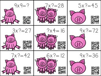 Mud! Pig multiplication game