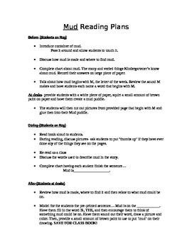 Mud book lesson plans Kindergarten first 6 Traits writing IDEAS