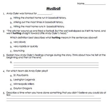 Mudball (by Matt Tavares) Quiz