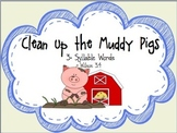 Muddy Pigs Game: Multi-Syllable Closed Syllable Words