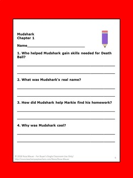 Mudshark by Gary Paulsen Book Unit