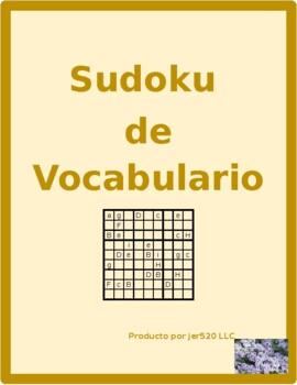Muebles (Furniture in Spanish) Sudoku