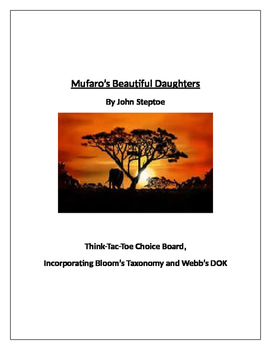 Mufaro's Beautiful Daughters Think-Tac-Toe Enrichment Activities
