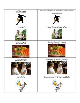 Mufaro's Beautiful Daughters Spelling & Vocabulary List & Activities