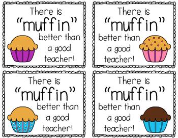 Muffin Gift Idea for Teachers