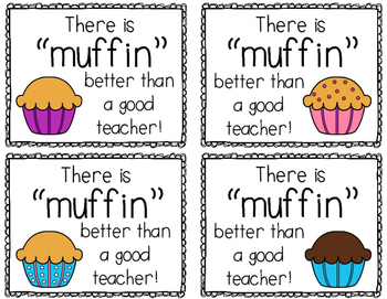 Muffin Gift Idea for Teachers