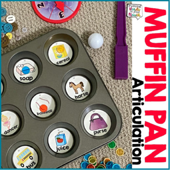 Articulation Therapy Activity - Muffin Pan Style