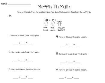 Muffin Tin Math {Editable}