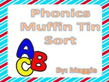 Muffin Tin Phonics Sort
