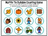 Muffin Tin Syllable Game Printables