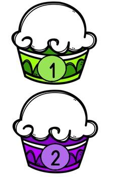 Muffin Zahlmengen *legen und zählen*