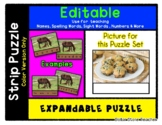Muffins / Bakery - Expandable & Editable Strip Puzzle with