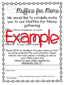 Muffins for Moms Letter {Mother's Day}