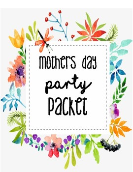 Muffins for Moms: Spa Party Packet