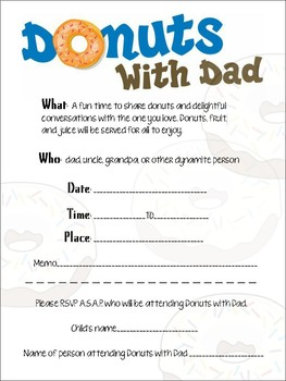 ... Muffins with Mom Donuts for Dad Invitation