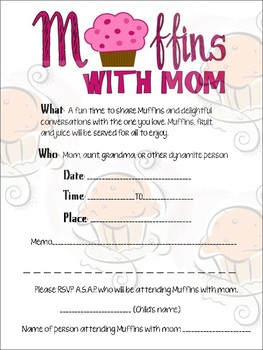 Muffins with Mom Donuts for Dad Invitation