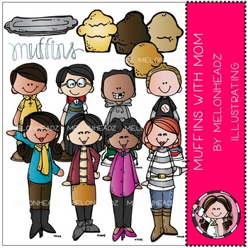 Muffins with Mom clip art - by Melonheadz