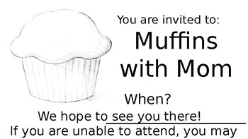 Muffins with Mom invitation