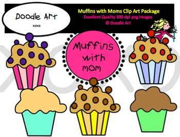 Muffins with Moms Clipart Pack